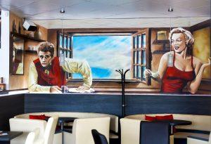 malba na stenu graffiti kosice umelecka malba dekoracna malba wallart mural graffity spreyovanie na stenu 3D malba merilliyn monroe