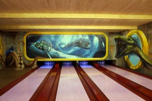 malba na stenu kosice graffti umelecka malba bowling grint sprayart ponorka submarine fantasy mural